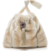 Marei 1998 Small Frangipani Eco Fur Hand - Hand bag -