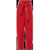 Marissa Webb AnderLinen Pant With Leathe - Capri & Cropped -