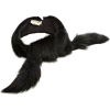 Marni Petrol Fox Stole - Scarf -