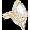Marquise Diamond Engagement Ring with Ma - Pierścionki -