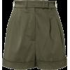 Martin Grant Pleated Cotton Shorts - Calções -