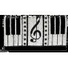 Mary Frances 'Keyed Up' Piano clutch - Torbe s kopčom -