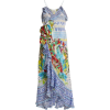 Masking Madness silk wrap dress - Dresses -