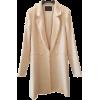 Massimo Dutti Off-White Coat - Kurtka -