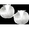 Matte Circular Hoops-Silver - Earrings - $24.00