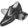Men Black Brogue Wingtip Suede & Genuine - Classic shoes & Pumps -