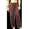 Mens Classic Silk Pajama Pants Port - Pajamas - $82.99
