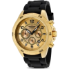 Mens I By Invicta Rubber Chronograph Gold Tone Rotating Bezel Date Watch Ibi-10015-003 - Watches - $79.95