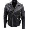 Mens Genuine Cowhide Black Leather Bikers Jacket - Jacket - coats - 220.00€  ~ $256.15