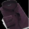 Men's dark purple shirt (Ali Express) - Camisas manga larga -