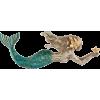 Mermaid Faux Weathered Wood Wall Plaque - Ilustracije - $29.99  ~ 25.76€