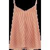 Mes Demoiselles 100% Silk Striped Top - Tanks -
