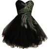 Metallic Peacock Embroidered Holiday Party Prom Dress Junior Plus Size Black - Haljine - $169.99  ~ 1.079,87kn