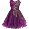 Metallic Peacock Embroidered Holiday Party Prom Dress Junior Plus Size Purple - Kleider - $169.99  ~ 146.00€