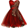 Metallic Peacock Embroidered Holiday Party Prom Dress Junior Plus Size Red - Vestidos - $169.99  ~ 146.00€