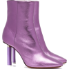 Metallic Purple Boots - Boots -