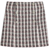 Metallic Thread Plaid Bouclé Miniskirt T - Skirts -