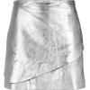 Metallic leather skirt - BO.BÔ - Skirts -