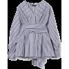 M · fil / striped pleated blouse - Košulje - duge -