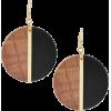Michael Kors Gold Tone Wood Earrings - Kolczyki -