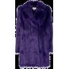 Michael Kors Purple Faux-Fur Coat - Jacken und Mäntel -