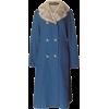 Mid century Holly Poplin Blue Coat - Jacket - coats -