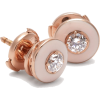 Mina 18kt rose gold, diamond & enamel - Earrings -