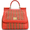 Mini woven leather shoulder bag | DOLCE - Hand bag -