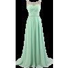 Mint Green Bridesmaid Dress - Dresses -
