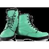 Mint green combat boots - Boots -