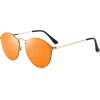 Mirrored Sunglasses  -  ORANGE RED  - Sonnenbrillen - $10.04  ~ 8.62€