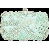 Miss Selfridge Mint Embellished Clutch - Clutch bags -