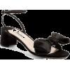 Miu Miu Bow satin sandals - Sandals -