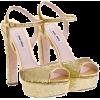 Miu Miu Sandals Gold - Sandals -