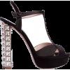 Miu Miu Black Embellished Heels - Sandals -