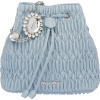 Miu Miu CRYSTAL NAPPA BUCKET - Messenger bags -