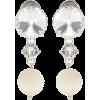 Miu Miu Diamond Pearl Earrings - Earrings -