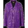 Miu Miu Oversized leather jacket - Jaquetas e casacos -