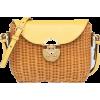 Miu Miu SHOULDER BAG IN WICKER AND LEATH - Messenger bags -