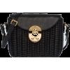 Miu Miu SHOULDER BAG IN WICKER AND LEATH - Bolsas de tiro -