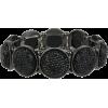 Mixit™ Black Stone Silver-Tone Stretch B - Bracelets - $12.00