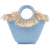 Mizele Sun Bag Mini Raffia-Cotton Tote - Torbice -