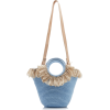 Mizele Sun Bag Mini Raffia-Cotton Tote - Hand bag -