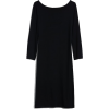 Modern Boatneck Dress - Dresses -