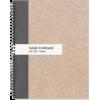 Modern Elegant Kraft Stripe 8.5•11 Spira - Items - $16.95  ~ £12.88