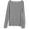 Modern Stripe Long Sleeve Boatneck T-Shi - Long sleeves t-shirts -