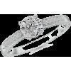 Moissanite Engagement Ring - Rings - $699.00