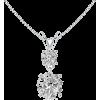 Moissanite V-Bale Pendant - Naszyjniki - $519.00  ~ 445.76€