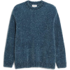 Monki Blue Velvety Knit Sweater - プルオーバー -