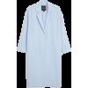 Monki Long Blue Dressy Coat - Chaquetas -